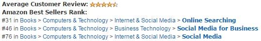 THE ULTIMATE GUIDE TO LINK BUILDING continues to rank among Amazon's top titles.